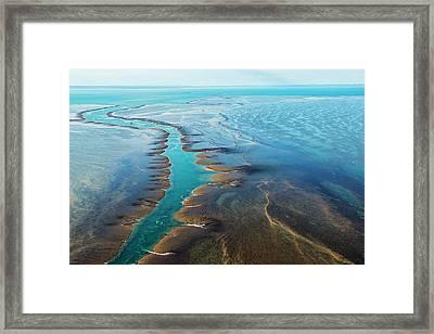 Aerial View Of Montgomery Reef Framed Print by Laurenepbath
