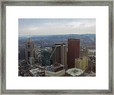 Aerial View Of Pittsburgh Framed Print