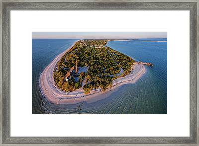Aerial View Of Sanibel Island Framed Print