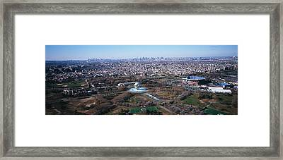 Aerial View Of Worlds Fair Globe, From Framed Print by Panoramic Images