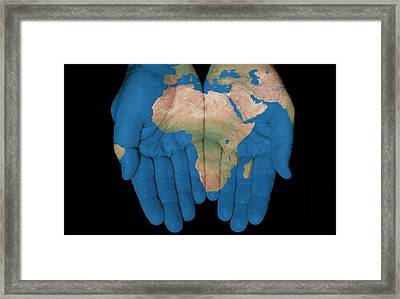 Africa In Our Hands Framed Print