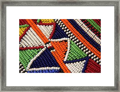 Africa, Kenya Maasai Tribal Beads Framed Print by Kymri Wilt