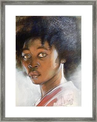 African American Boy Framed Print