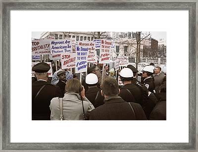 African American Demonstrators Framed Print