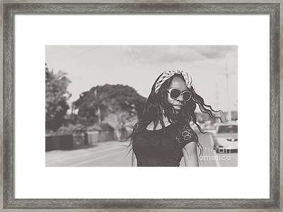 African American Woman With Highfashion Hairstyle Framed Print by Jorgo Photography - Wall Art Gallery