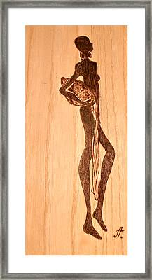 African Motif Framed Print by Art  Pyrography