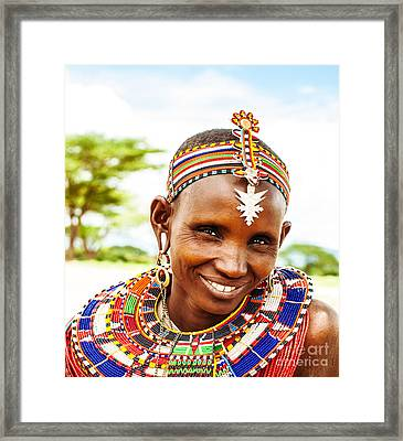 African Tribal Woman Framed Print by Anna Om