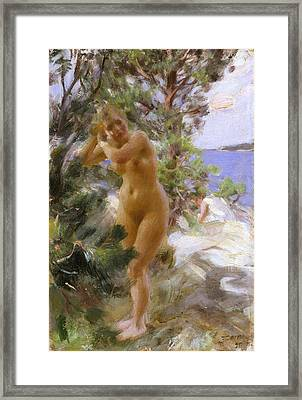 After The Bath Framed Print by Anders Zorn