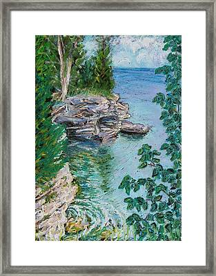 After The Rain Cave Point Framed Print by Madonna Siles