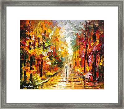 After The Rain Framed Print by Leonid Afremov
