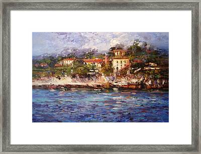 Afternoon Light In Cassis Framed Print by R W Goetting