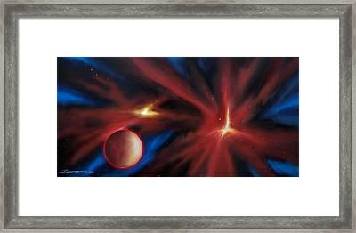 Agamnenon Nebula Framed Print by James Christopher Hill