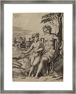 Agostino Dei Musi After Raphael Italian Framed Print by Quint Lox