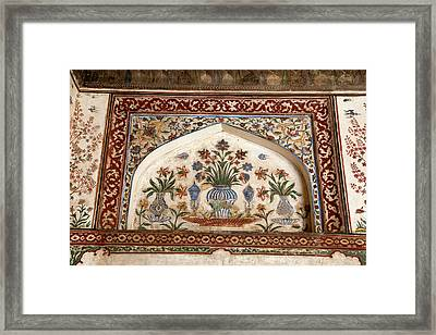 Agra, India Still-life Floral Painting Framed Print by Charles O. Cecil