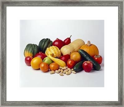 Agriculture - Autumn Fruits Framed Print