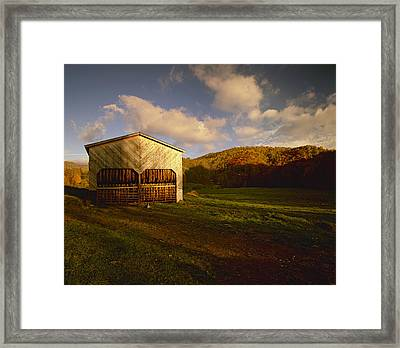Agriculture - Tobacco Barn In A Rural Framed Print
