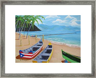 Aguadilla Crashboat Beach Framed Print