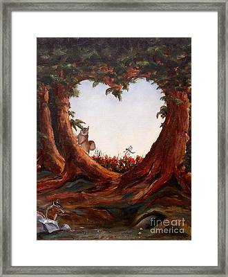 Ah Nuts Framed Print by Diane Daigle