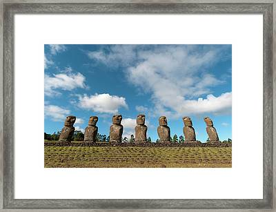 Ahu Akivi, Rapa Nui, Easter Island Framed Print