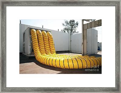 Air Compressor Tubes Framed Print by PhotoStock-Israel