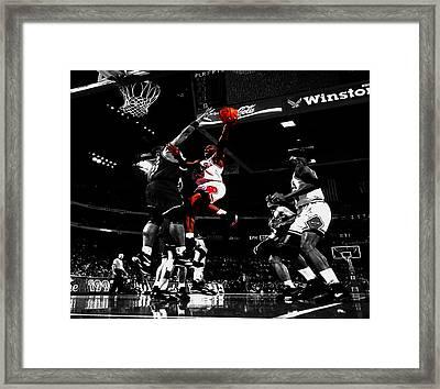Air Jordan  Framed Print by Brian Reaves