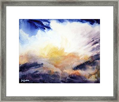 Framed Print featuring the painting Air Lily by Joan Hartenstein
