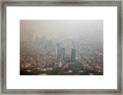 Air Pollution In Mexico City Framed Print