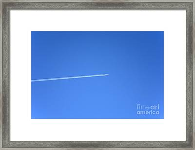 Aircraft Contrail Framed Print