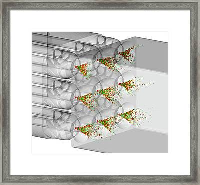 Aircraft Fuel Injection Simulation Framed Print