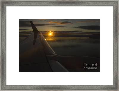 Airplane Framed Print by Ron Sanford
