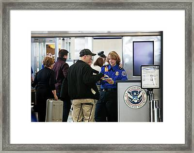Airport Security Check Framed Print