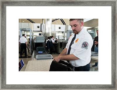 Airport Security Framed Print