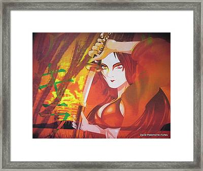 Framed Print featuring the digital art Akira IIi by Artists With Autism Inc