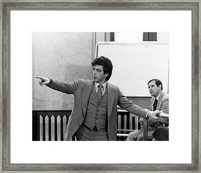 Al Pacino In ...and Justice For All.  Framed Print by Silver Screen