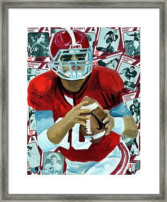 Alabama Quarter Back #10 Framed Print