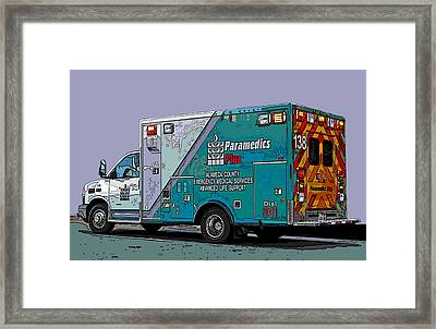 Alameda County Medical Support Vehicle Framed Print
