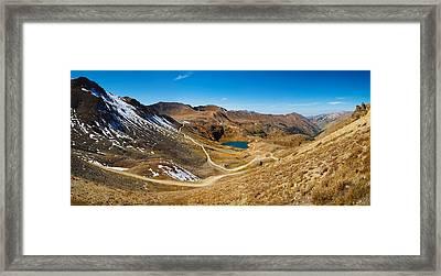 Alaska Basin And Como Lake Surrounded Framed Print