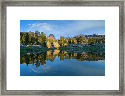 Alaska Basin Pothole Lake, Teton Framed Print