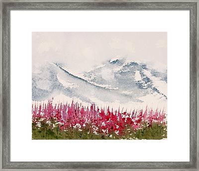 Alaska Fireweed  Framed Print by Carolyn Doe