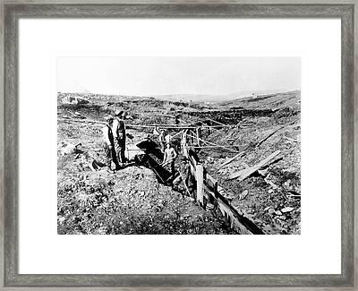 Alaska Gold Miners, C1897 Framed Print