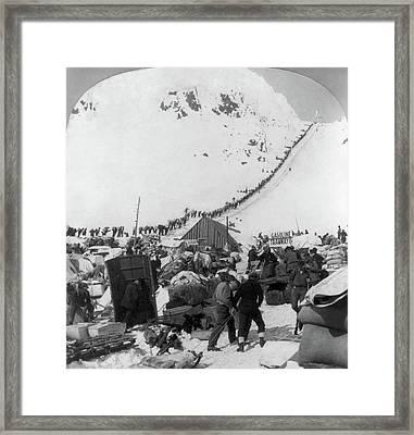Alaska Miners, C1898 Framed Print by Granger