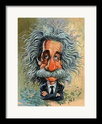 Caricaturist Framed Prints