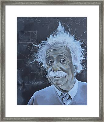 Albert Einstein Framed Print by Ben Jackson
