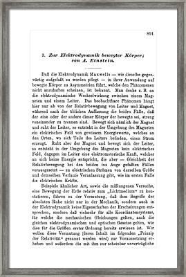 Albert Einstein Page Framed Print by Granger