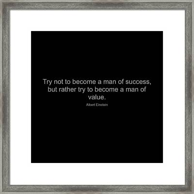 Albert Einstein Quote Framed Print by Famous Quotes