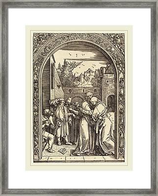 Albrecht Dürer German, 1471-1528, Joachim And Anna Framed Print by Litz Collection