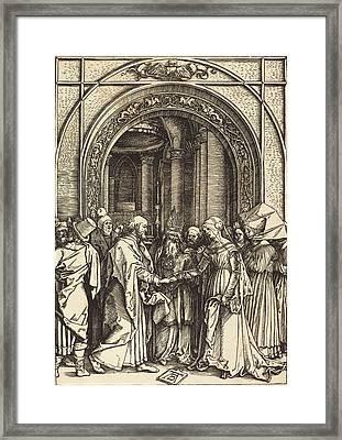 Albrecht Dürer German, 1471 - 1528, The Betrothal Framed Print