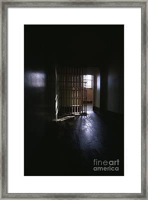 Alcatraz Cell Framed Print by Chris Selby