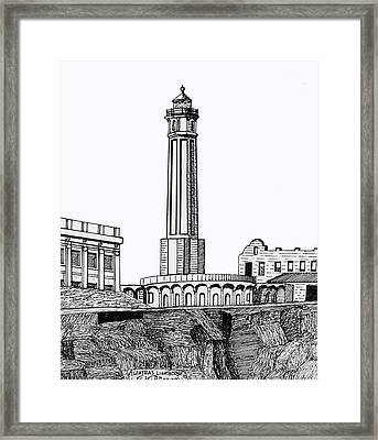 Alcatraz Island Lighthouse Framed Print by Frederic Kohli