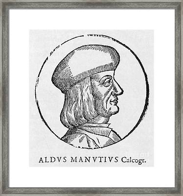 Aldus Manutius, Italian Printer Framed Print